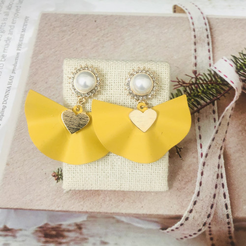 Yellow Dress Fashion Style Drop Earrings 2011216