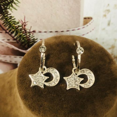Gray Star Fashion Style Open Hoop Earrings 2011217
