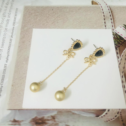 Gold Bowknot Vintage Style Drop Earrings 2011223