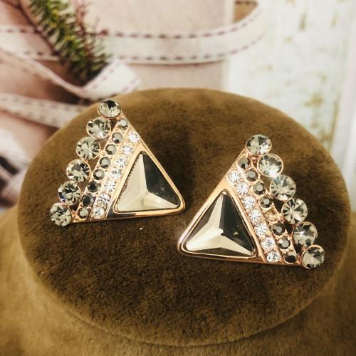 Footprint of Swaro Crystal Luxury Style Stud Earrings 2011228