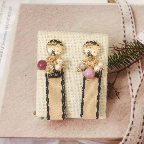 Pink Vintage Style Drop Earrings 2011225