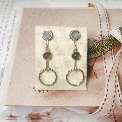 Gray Austrian Crystal Vintage Style Drop Earrings 2011221
