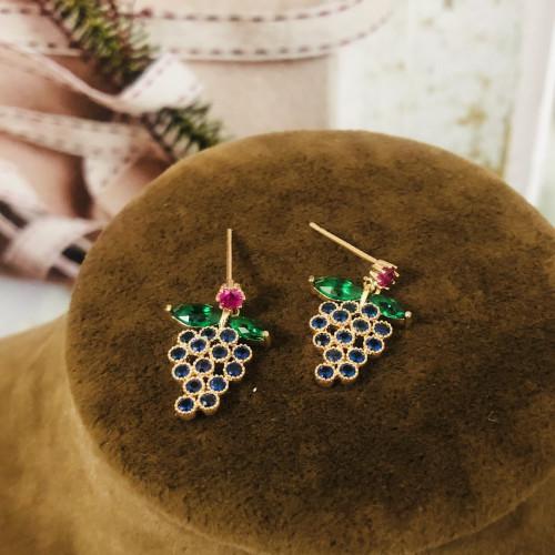 Grape of Crystal Fashion Style Stud Earrings 2011210