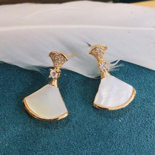 Dresses of Shell Elegant Style Stud Earrings PR2012001