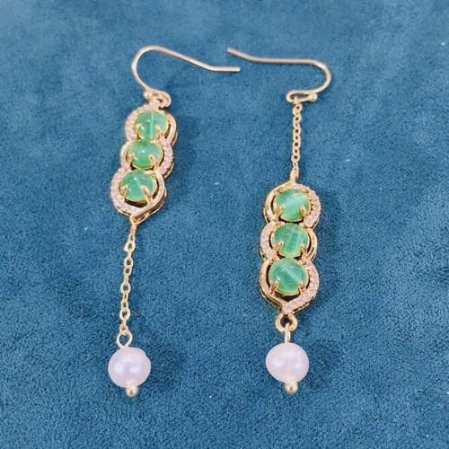 Peasecod of Opal Elegant Style Drop Earrings PR2012024