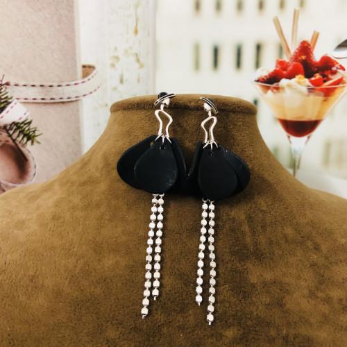 Black Girl of Acrylic Fashion Style Tassel Earrings 2012003