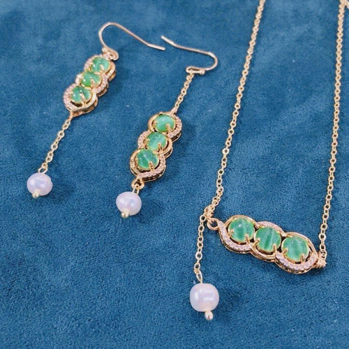 Peasecod of Opal Elegant Style Necklace PR2012024