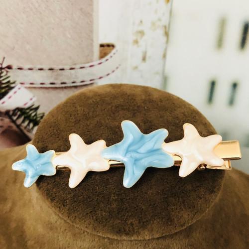 Ocean Blue Starfish Hair Clips 2012008