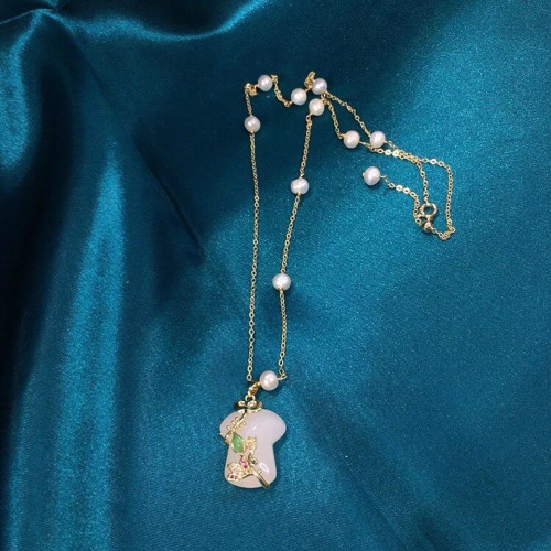 Cheongsam of Chalcedony Ancientry Style Necklace PR2012030