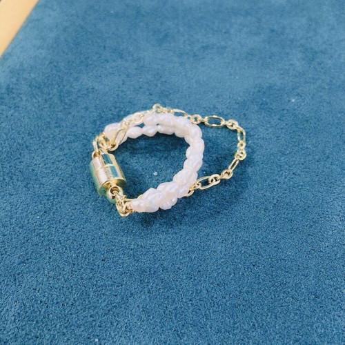 1pcs Freshwater Pearl Magnet Buckle Multiple Wear Earrings  (Ring / Ear Cuff / Ear Stud ) PR2012006
