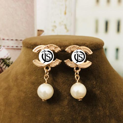 Pink Double C Surprise Style Drop Earrings 2012008