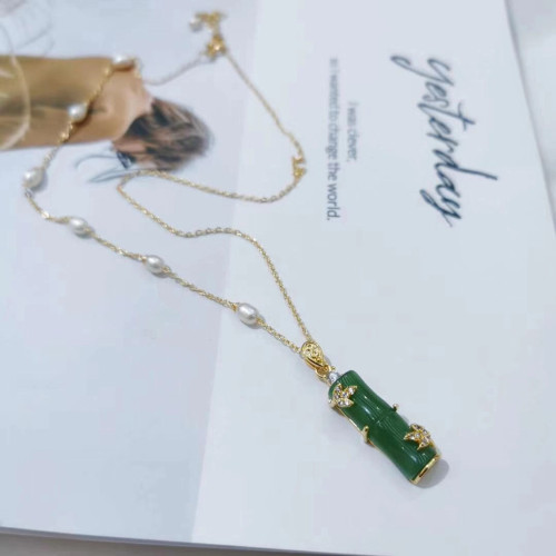 Bamboo of Chalcedony Ancientry Style Necklace  PR2012033