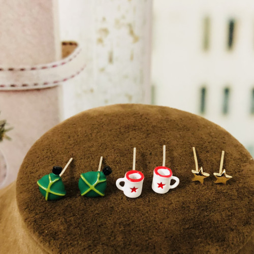 Teapot Cup and Star Earrings Set ES2012001