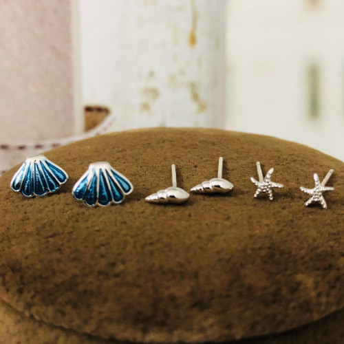 Conch Shells and Starfish Earrings Set ES2012005