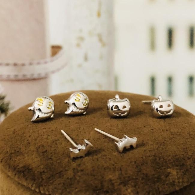 Ghost Pumpkins and Bats Earrings Set ES2012006