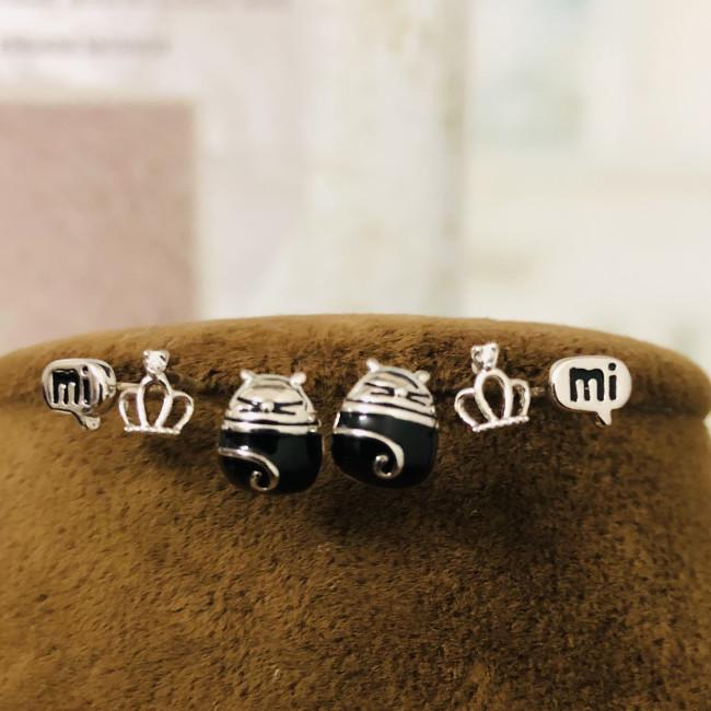 Cat Crown and MI Earrings Set ES2012002