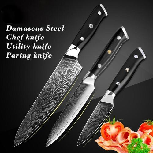 3 Pcs Utility Kitchen Knife Sets