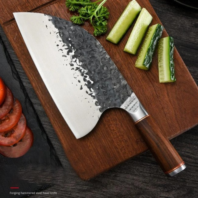 Hand Forged Hammered Steel Head knife       (    Free Shipping+ $5 OFF THE FIRST ORDER    )