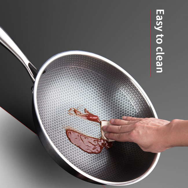 Uncoated carved multifunctional stainless steel non-stick pan iron pot.( Free Shipping, Shipping From US)