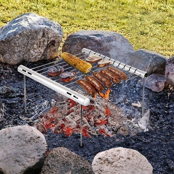 Portable Detachable Stainless Steel Barbecue Grill Set