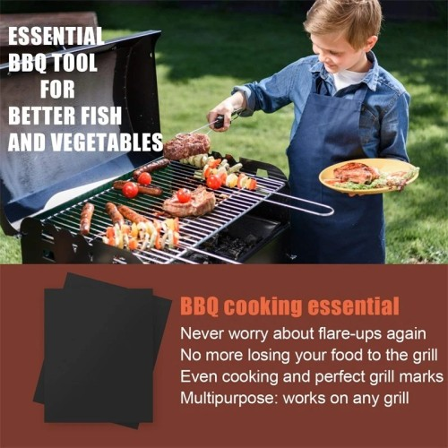 Reusable Non-Stick BBQ Grill Mat Pad Baking Sheet