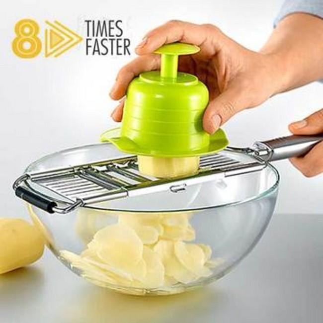 Grater Cutter, Slicer, Three Blades Interchangeable, Multi-Function Vegetable Cutter