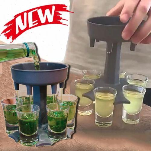6 Shot Glass Dispenser Holder