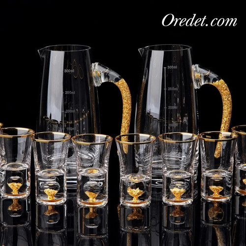 24K Royal Gold Shot Glass Set