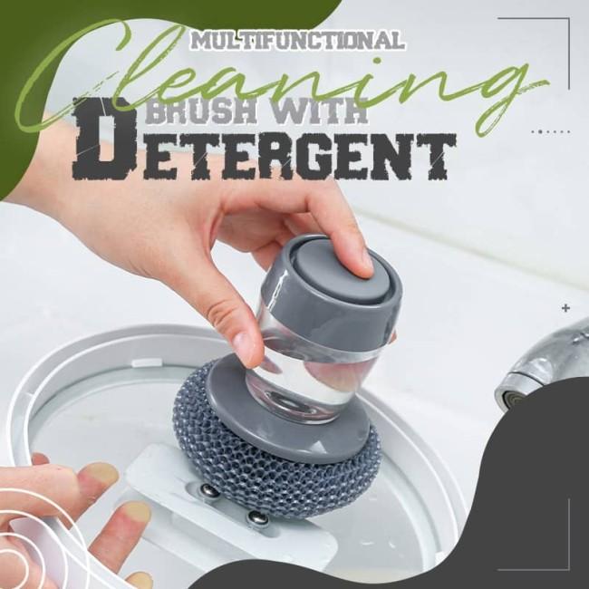 Kitchen Soap Dispensing Palm Brush