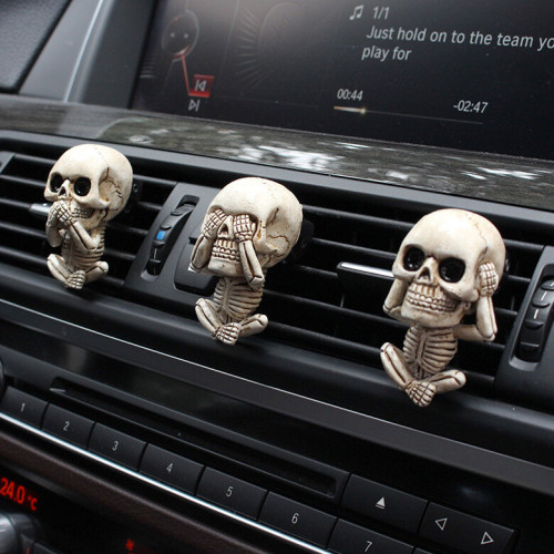 EVIL SKULL TRIO STATUE(A SET OF 3PCS)---WITH AIR FRESHENER 🔥ONLY$19.99