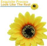 INSTASTYLE 12 PCS Sunflower Duckbill Hair Clip, Metal Alligator Hair Accessories for Beach, Summer Party