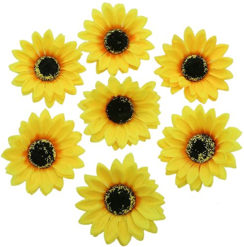 INSTASTYLE 12 PCS Sunflower Duckbill Hair Clip, Metal Alligator Hair Accessories for Beach, Summer Party