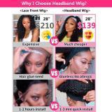 Taiill Kinky Curly Headband Wig Human Hair for Black Women 150% Density Brazilian Virgin Human Hair Half Wig With Headband None Lace Front Wig Headband Wig  12inch