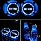 2020🔥Bearfire™7 Colors Led Changing Car Logo Cup Coaster