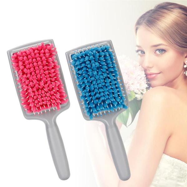 Microfiber bristles quickly absorb dry comb dry comb