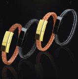 Leather Braided Bracelet Data Charging Line
