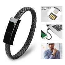 Leather Braided Bracelet Data Charging Line