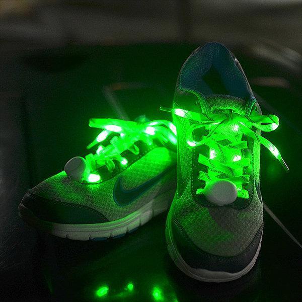Glowing shoelaces