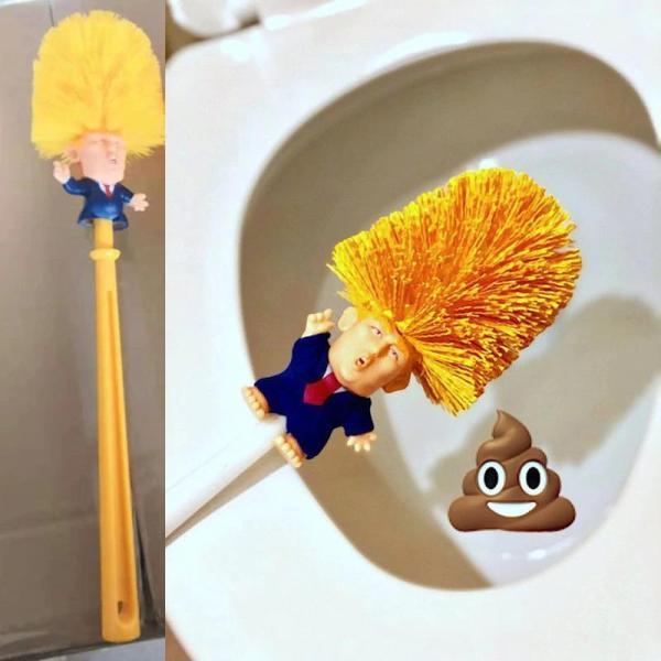 Trump toilet brush