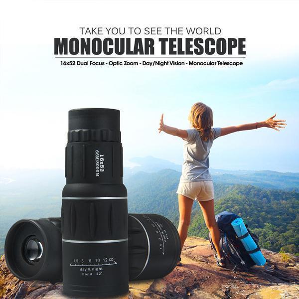 High Power Prism Monocular Telescope