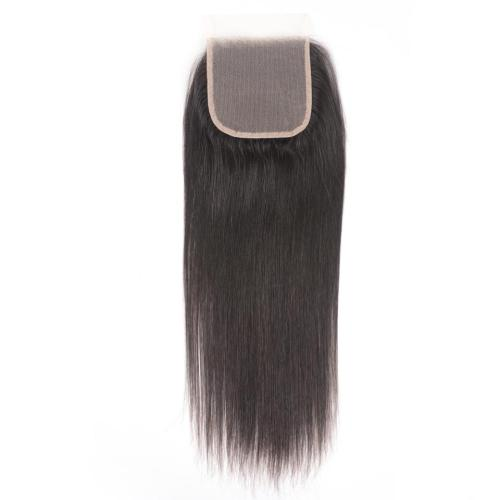 LM 10A Bundles Virgin Weaves Brazilian Straight Hair 3 Bundles with 4*4 Transparent Lace Closure