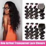 LM 10A Body Wave Bundles Virgin Weaves Brazilian Hair 3 Bundles with 4*4 Transparent Lace Closure