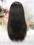 LM Customized Headband Wig Silky Straight Beginner Friendly Virgin Human Hair Wigs with Baby Hair