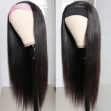LM Hair Straight Human Hair Headband Long Straight Wig Glueless Human Hair Wigs With Scarf With Baby Hair