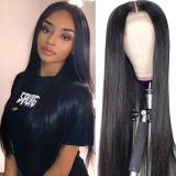 LM Long Straight Lace Closure Wig 4*4 ,5*5,Closure 13*4 Wig Straight Brazilian Virgin Human Hair Wig