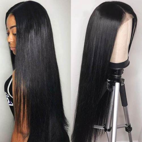 LM Long Straight Lace Closure Wig 4*4 ,5*5,Closure 13*4 Wig Straight Brazilian Virgin Human Hair Wig
