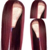 LM 99J Straight Lace Front Wig 4*4 5*5 13*4 Burgundy Wig Colored Virgin Human Hair Wigs