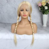 LM Long Straight Blonde 613 Lace Front 4*4 5*5 With Baby Hair Straight Brazilian Virgin HumanHair