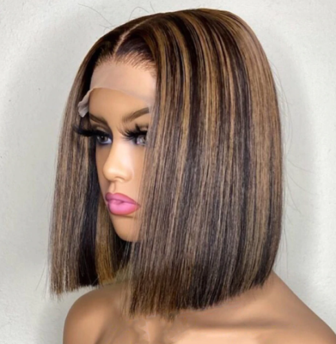 LM luxury highlight bob lace wigs for black beauty new year new wig
