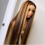 LM luxury 13x6HD highlight straight lace wigs for new year